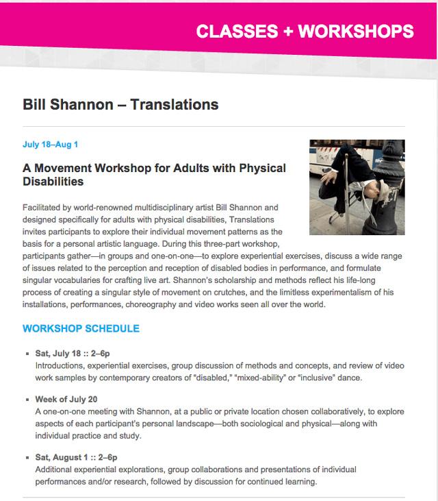 Bill Shannon Workshop